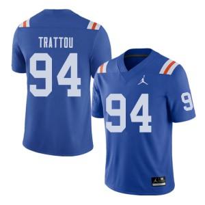 Jordan Brand Men #94 Justin Trattou Florida Gators Throwback Alternate College Football Jerseys 211387-496
