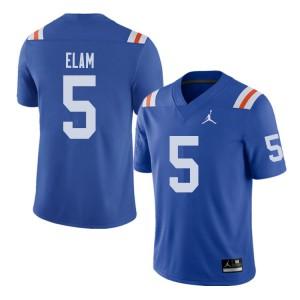 Jordan Brand Men #5 Kaiir Elam Florida Gators Throwback Alternate College Football Jerseys Royal 640333-662