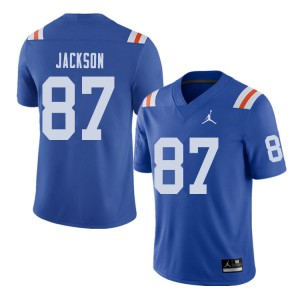 Jordan Brand Men #87 Kalif Jackson Florida Gators Throwback Alternate College Football Jerseys 382000-457