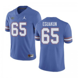 Jordan Brand Men #65 Kingsley Eguakun Florida Gators College Football Jerseys Blue 445663-542