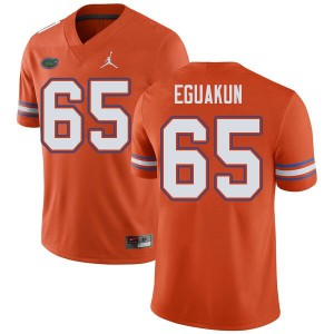Jordan Brand Men #65 Kingsley Eguakun Florida Gators College Football Jerseys Orange 670696-655
