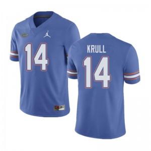 Jordan Brand Men #14 Lucas Krull Florida Gators College Football Jerseys Blue 538691-569