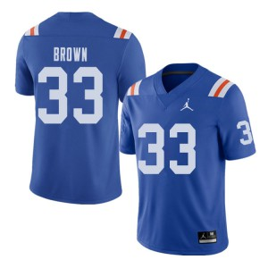 Jordan Brand Men #33 Mack Brown Florida Gators Throwback Alternate College Football Jerseys Royal 389706-408