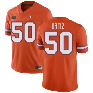 Jordan Brand Men #50 Marco Ortiz Florida Gators College Football Jerseys Orange 405759-910
