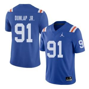 Jordan Brand Men #91 Marlon Dunlap Jr. Florida Gators Throwback Alternate College Football Jerseys 221965-855