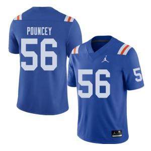 Jordan Brand Men #56 Maurkice Pouncey Florida Gators Throwback Alternate College Football Jerseys 847969-601