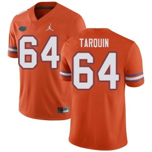 Jordan Brand Men #64 Michael Tarquin Florida Gators College Football Jerseys Orange 233273-497
