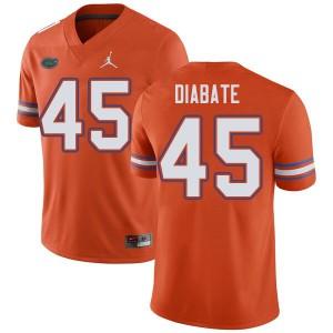 Jordan Brand Men #45 Mohamoud Diabate Florida Gators College Football Jerseys Orange 214533-622