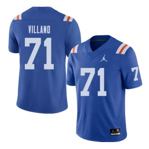 Jordan Brand Men #71 Nick Villano Florida Gators Throwback Alternate College Football Jerseys Royal 673137-185