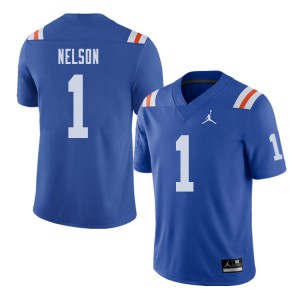 Jordan Brand Men #1 Reggie Nelson Florida Gators Throwback Alternate College Football Jerseys Royal 421841-744