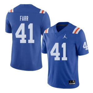 Jordan Brand Men #41 Ryan Farr Florida Gators Throwback Alternate College Football Jerseys Royal 883705-274