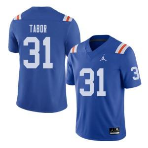 Jordan Brand Men #31 Teez Tabor Florida Gators Throwback Alternate College Football Jerseys Royal 710465-678