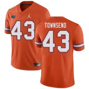 Jordan Brand Men #43 Tommy Townsend Florida Gators College Football Jerseys Orange 621475-461