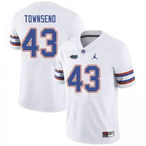 Jordan Brand Men #43 Tommy Townsend Florida Gators College Football Jerseys White 310558-371