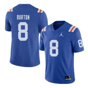 Jordan Brand Men #8 Trey Burton Florida Gators Throwback Alternate College Football Jerseys Royal 718670-436