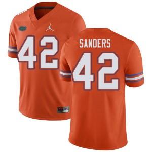 Jordan Brand Men #42 Umstead Sanders Florida Gators College Football Jerseys Orange 147275-332