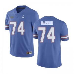 Jordan Brand Men #74 Will Harrod Florida Gators College Football Jerseys Blue 493917-298