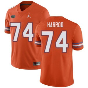 Jordan Brand Men #74 Will Harrod Florida Gators College Football Jerseys Orange 404127-222