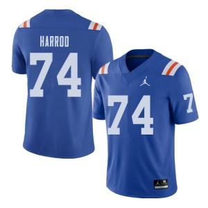 Jordan Brand Men #74 Will Harrod Florida Gators Throwback Alternate College Football Jerseys Royal 214083-319