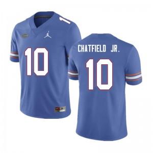 Men #10 Andrew Chatfield Jr. Florida Gators College Football Jerseys Blue 484059-923