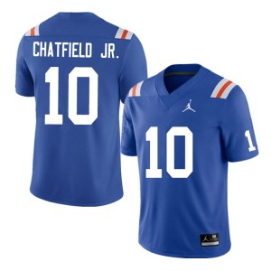 Men #10 Andrew Chatfield Jr. Florida Gators College Football Jerseys Throwback 661192-518