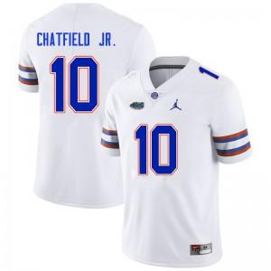Men #10 Andrew Chatfield Jr. Florida Gators College Football Jerseys White 968525-910