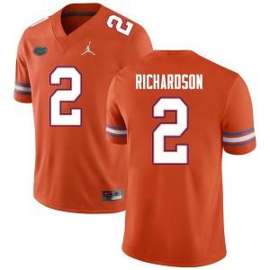 Men #2 Anthony Richardson Florida Gators College Football Jerseys Orange 625267-813