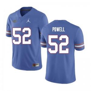 Men #52 Antwuan Powell Florida Gators College Football Jerseys Blue 739854-780