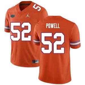 Men #52 Antwuan Powell Florida Gators College Football Jerseys Orange 422844-341