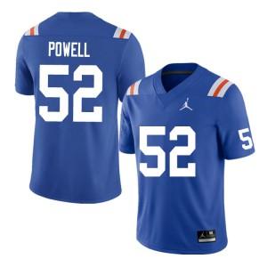 Men #52 Antwuan Powell Florida Gators College Football Jerseys Throwback 499388-706