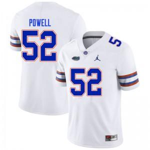 Men #52 Antwuan Powell Florida Gators College Football Jerseys White 987480-145