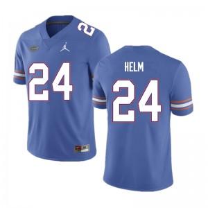 Men #24 Avery Helm Florida Gators College Football Jerseys Blue 513008-289