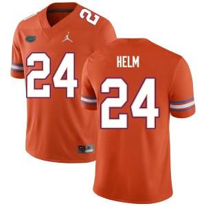 Men #24 Avery Helm Florida Gators College Football Jerseys Orange 470750-491