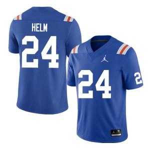 Men #24 Avery Helm Florida Gators College Football Jerseys Throwback 882285-333