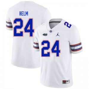 Men #24 Avery Helm Florida Gators College Football Jerseys White 861270-667