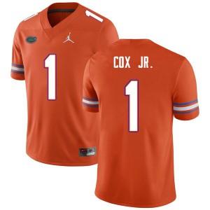 Men #1 Brenton Cox Jr. Florida Gators College Football Jerseys Orange 740849-260