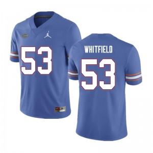 Men #53 Chase Whitfield Florida Gators College Football Jerseys Blue 568752-389