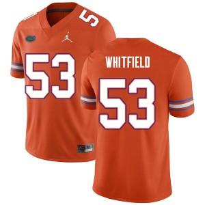 Men #53 Chase Whitfield Florida Gators College Football Jerseys Orange 930192-757