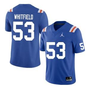 Men #53 Chase Whitfield Florida Gators College Football Jerseys Throwback 334771-219
