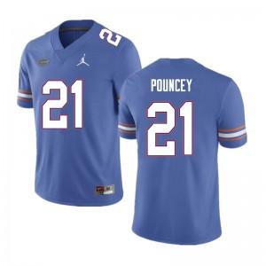 Men #21 Ethan Pouncey Florida Gators College Football Jerseys Blue 914641-694