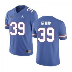 Men #39 Fenley Graham Florida Gators College Football Jerseys Blue 713361-686