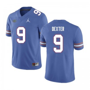 Men #9 Gervon Dexter Florida Gators College Football Jerseys Blue 282902-721