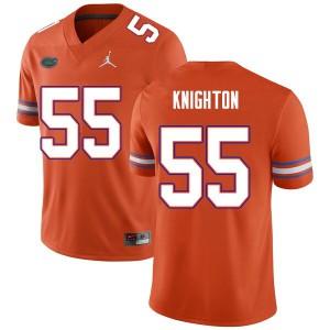 Men #55 Hayden Knighton Florida Gators College Football Jerseys Orange 646921-888