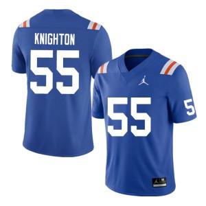 Men #55 Hayden Knighton Florida Gators College Football Jerseys Throwback 780187-793