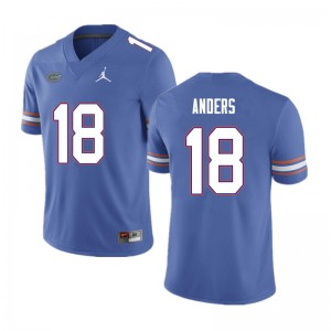 Men #18 Jack Anders Florida Gators College Football Jerseys Blue 843275-279