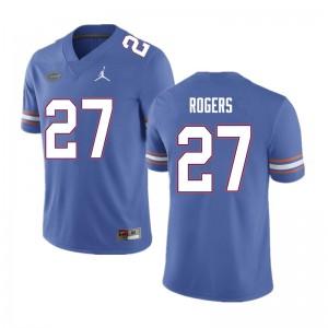 Men #27 Jahari Rogers Florida Gators College Football Jerseys Blue 419260-150