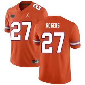 Men #27 Jahari Rogers Florida Gators College Football Jerseys Orange 515265-600