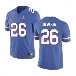 Men #26 Jeremy Crawshaw Florida Gators College Football Jerseys Blue 430619-215