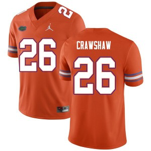 Men #26 Jeremy Crawshaw Florida Gators College Football Jerseys Orange 807537-696