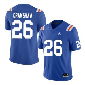 Men #26 Jeremy Crawshaw Florida Gators College Football Jerseys Throwback 601814-646